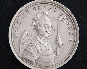 coin Grand Duke Rurik 3D print model