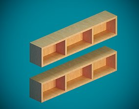 furniture-set Wall shelf 3D model low-poly