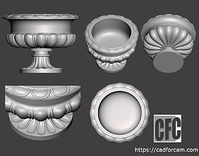 Decorative vase - 3d model for CNC -