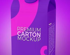 3D model rigged Tetra Packaging box
