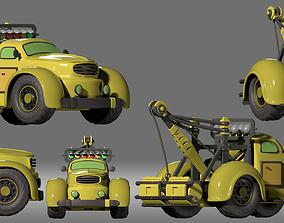 3D model cartoon car trailer truck