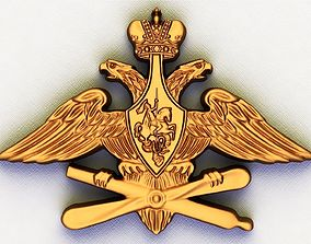 The coat of arms of the Russian air 3D printable model