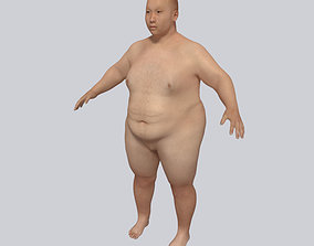 Young Fat Man - Asian Obese Man 3D