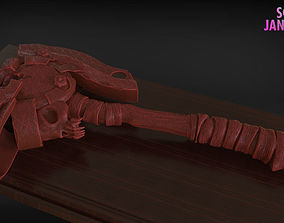 Stylized Fire Axe Timelapse and Model