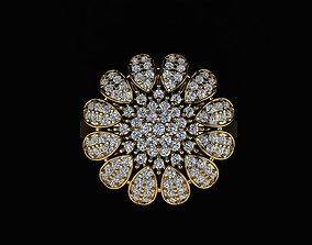 3D printable model diamond-ring FLOWER RING