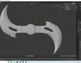 3D printable model Blade the Daywalkers Throwing Glaive