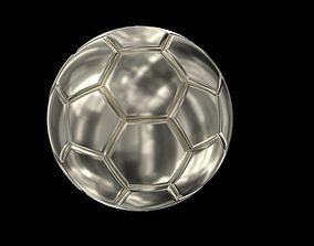 Ball football silver 3D print model