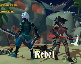 3D asset Acheron Rebel Outfit