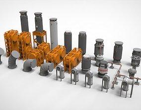 sci-fi Architecture kitbash 11 construction 3D model