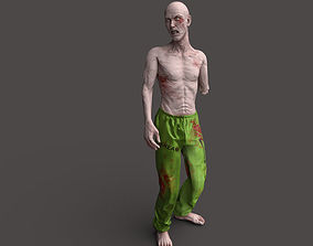 Zombie Rigged Biohazard 3D model VR / AR ready