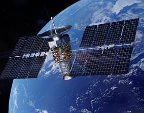 3D model Satellite space