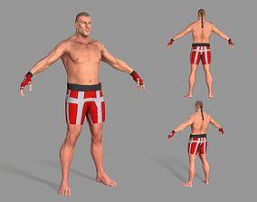 3D asset UFC Boxer