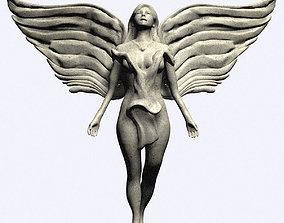 Angel Statue 3D print model winged