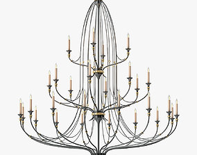 3D asset Currey and Company Folgate Chandelier