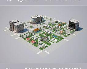 City 001 HIGHPOLY MODEL