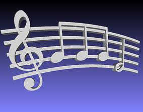 music symbol 3D printable model