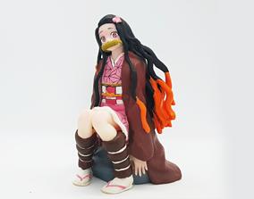 nezuko demon slayer kimetsu no yaiba 3D printable model