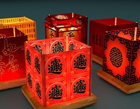 3D asset Chinese water lantern
