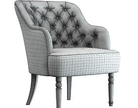 3D Light Grey Armchair