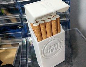 10 Cigarette Pack - Lucky Strike 3D print model