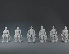 3D printable model Star Track characters Sit