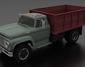3D asset game-ready F-Series F-800 Grain Truck 1964