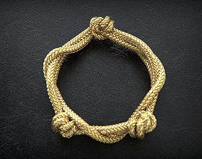 fashion 3D print model Rope Ring