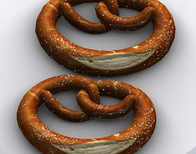 Bretzel bread 3D asset