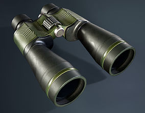 Military binoculars 3D model realtime