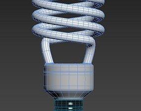 CFL Bulb 3D model game-ready