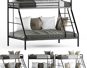 Parsons Twin Over Bunk Child Bed 3D