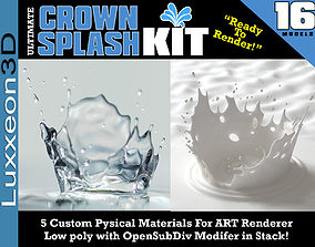 3D model Ultimate Crown Splash Kit