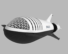 3D Big Falcon Rocket - BFR - 2019 - SpaceX - Spaceship