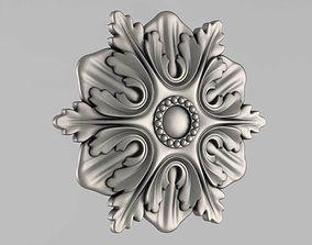 cnc 3D print model Decor Rosettes