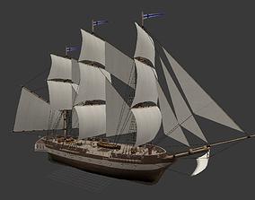 Corvette Ship 3D