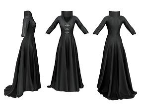 3D model Standing Collar Countess Dress