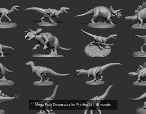 3D model Mega Pack Dinousaurs for Printing 01