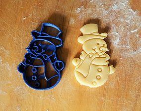 Snowman cookie cutter 3D printable model