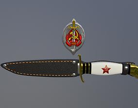 3D model knife badge case