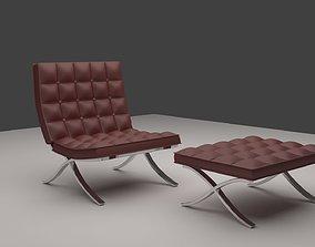 3D model Harm Chair Chesterfield