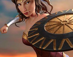 Wonder Woman cartoon model rigged
