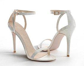 3D model luxury High Five Heeled Sandals