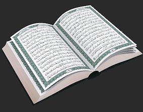 3D model rigged Quran