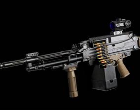 PMS STAL-51 Machine Gun - Models and Textures 3D asset