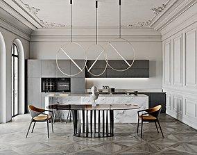 Neoclassic Kitchen 3D model