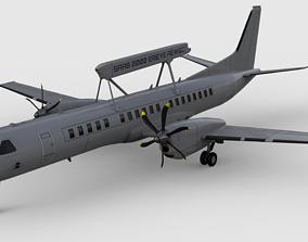 3D model Saab 2000 Erieye AEWC Aircraft -