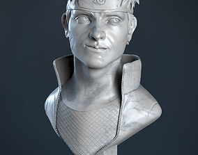 Naruto sculpture bust 3D print model