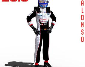 3D asset Fernando Alonso WEC 2018