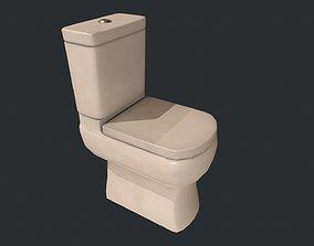 3D asset Toilet - Low Poly Toilet - White