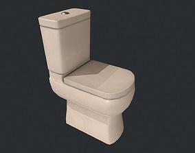 Toilet - Low Poly Toilet - White Toilet 3D model